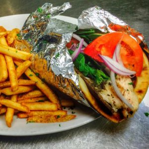 Famous Gyro with French Fries