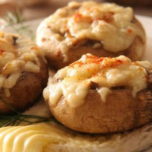 Jumbo Mushrooms with Crab Meat
