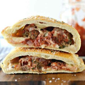 Meatball Parmesan Calzone