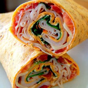 Turkey & Cheese Traditional Wrap